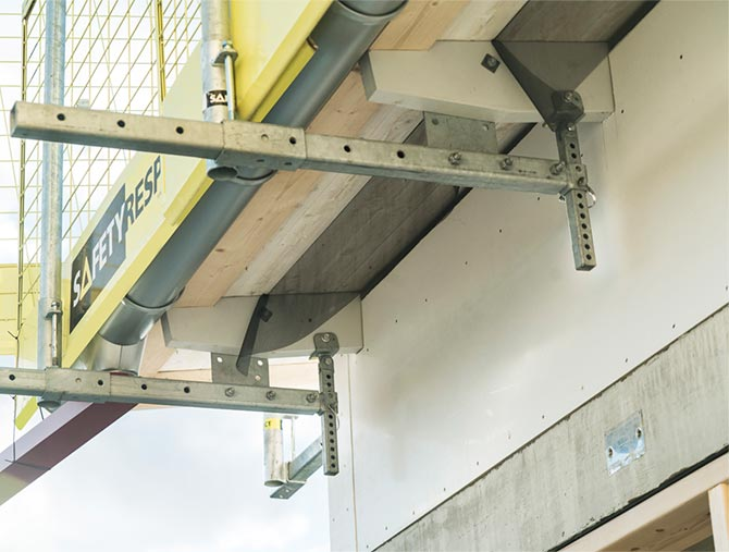 Edge protection at eaves