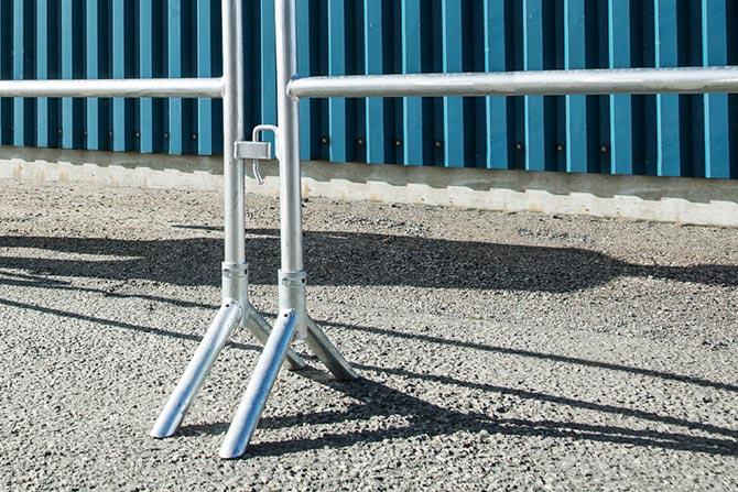 Angel foot guard rail system